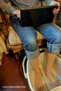 DIY Epsom Salt Foot Soak